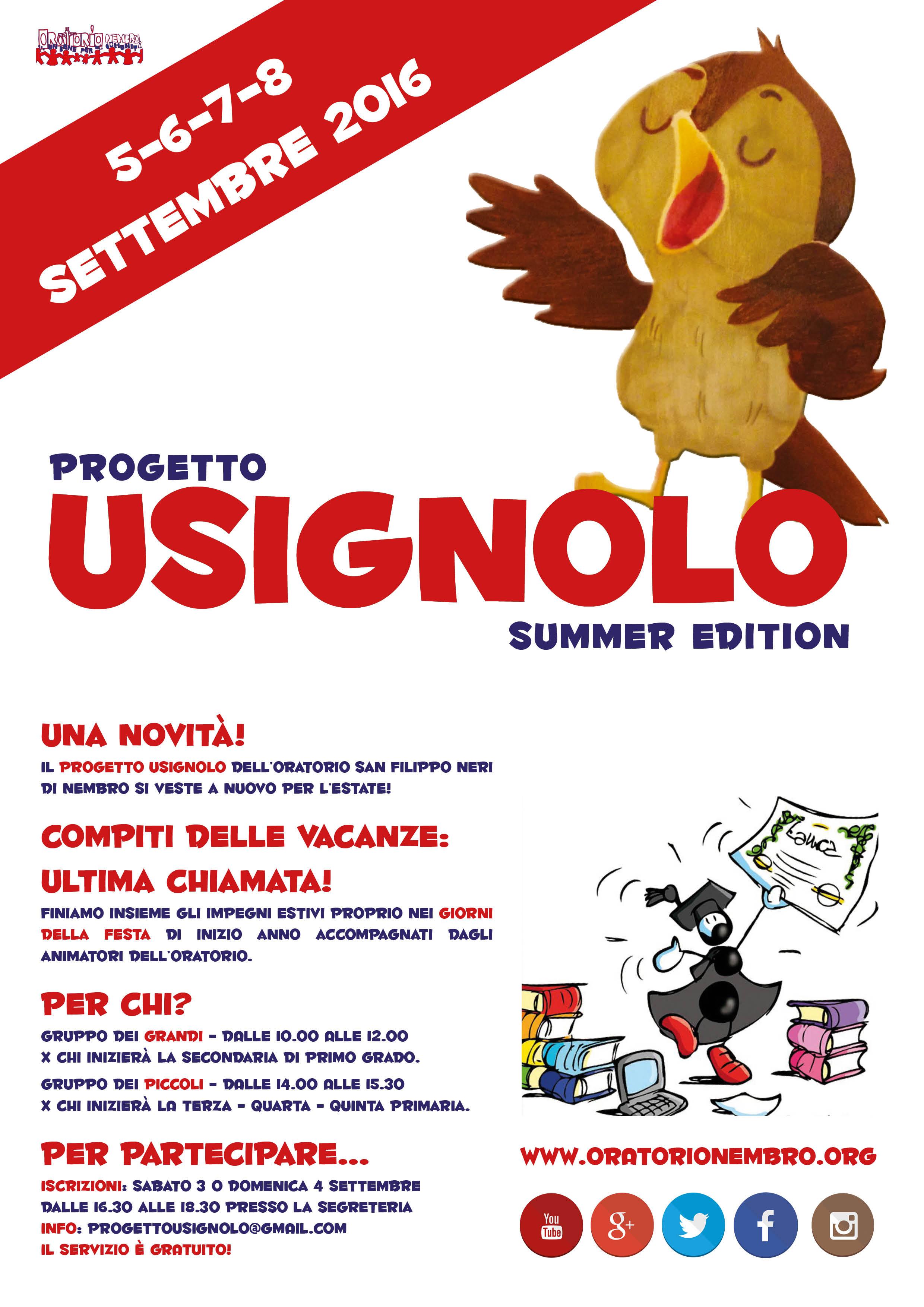Usignolo Summer 2016
