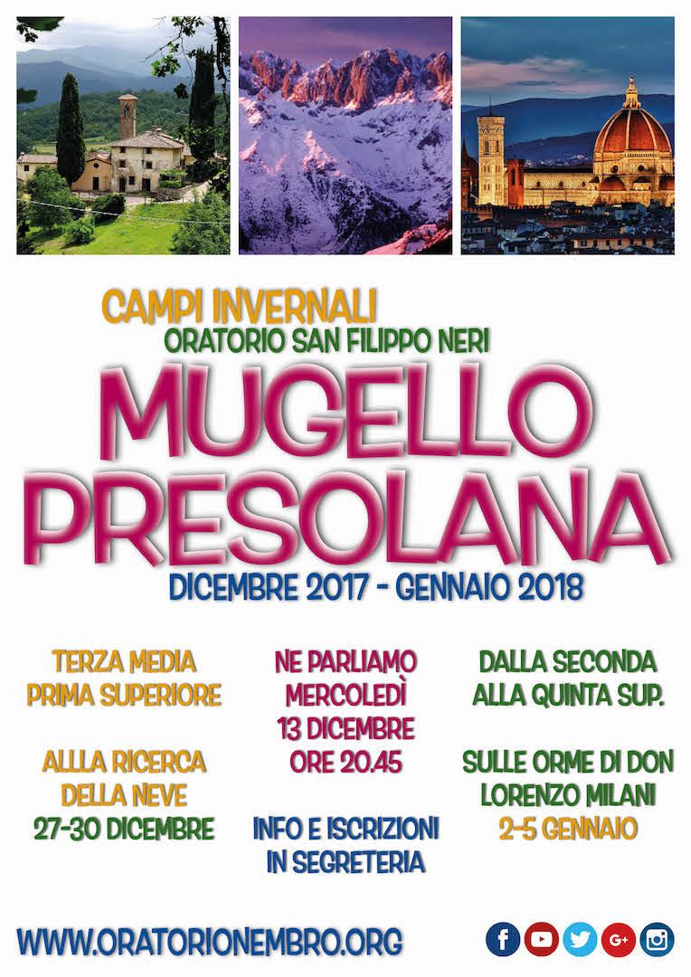 Presolana - Mugello: campi invernali adolescenti 2017-2018